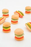 Jelly berger & hot dog Royalty Free Stock Images