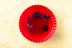 Jelly with berries Royalty Free Stock Image