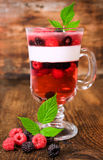 Jelly with blackberries and raspberries Royalty Free Stock Photo