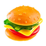 Jelly burger on white Royalty Free Stock Photography