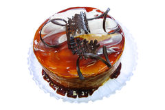 Jelly cake with chocolate Stock Images