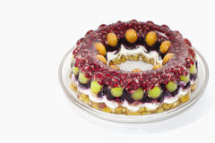 Jelly cake with fruits Royalty Free Stock Photography