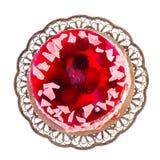 Jelly cake on white Stock Photos