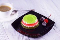 Jelly cakes. Dessert traffic light stock images