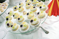 Jelly cakes on plate Stock Photography