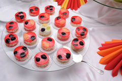 Jelly cakes on plate Royalty Free Stock Image