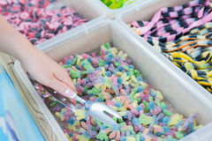 Jelly cancandies shop Stock Photography