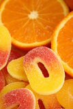 Jelly candies. Jelly orange and lemon candies coated in sugar Royalty Free Stock Photo