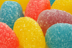 Jelly candies. Sugar coated jelly candies close up stock photography