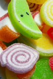 Jelly Candies. Colorful jelly candies coated in sugar Royalty Free Stock Photography
