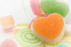 Jelly Candies e Jelly Hearts dolci Fotografia Stock Libera da Diritti