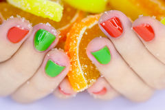 Candys in hands Royalty Free Stock Images