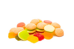 Jelly candies isolated Stock Photos