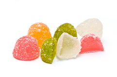 Jelly candies piled and halved Royalty Free Stock Photography