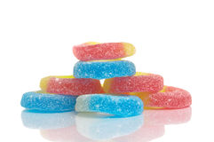 Jelly Candies on White Background Royalty Free Stock Images