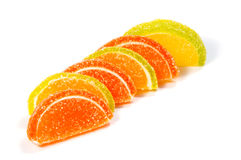Jelly candies on white background. Gummy candyJelly candies on white background. Gummy candy Stock Photography