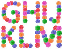 Jelly Candy Alphabet Letters. Jelly Alphabet Letters G-M Isolated On White royalty free stock images