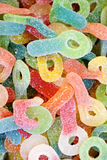 Jelly Candy covered with sugar Stock Photos