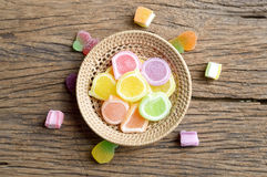 Jelly candy dessert Stock Images