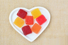 Jelly candy fruit flavours Stock Photo