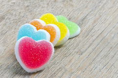 Jelly candy with heart sign Royalty Free Stock Photography