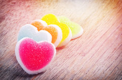Jelly candy with heart sign Stock Photo