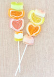 Jelly candy stick Stock Photography
