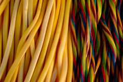 Jelly candy strings Royalty Free Stock Photos
