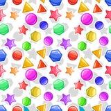 Jelly or caramel geometric figures - seamless background pattern. Funny Jelly figures - seamless background. Caramel geometric pattern Stock Photos