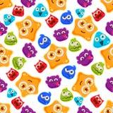 Jelly Characters colorée avec des émotions Modèle d'illustration de vecteur illustration stock