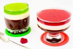 Jelly Chocolate, Granaatappel, Kers, Kiwi, Melk Royalty-vrije Stock Foto