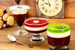Jelly Chocolate, Granaatappel, Kers, Kiwi, Melk Royalty-vrije Stock Fotografie