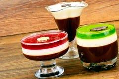 Jelly Chocolate, Granaatappel, Kers, Kiwi, Melk Stock Afbeeldingen