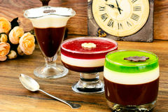 Jelly Chocolate, Granaatappel, Kers, Kiwi, Melk Stock Foto's