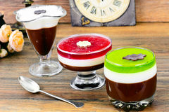 Jelly Chocolate, Granaatappel, Kers, Kiwi, Melk Royalty-vrije Stock Foto