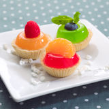 Jelly cocktail fruity cupcake Stock Photos
