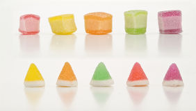 Jelly cone. And square  for child and teen Stock Images