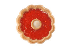 Jelly cookie. A single fresh fruit jelly cookie on white Royalty Free Stock Images