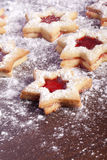 Jelly cookies star Royalty Free Stock Photo
