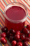 Jelly with Cranberries Stock Images
