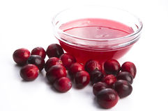 Jelly with Cranberries Stock Photo