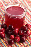 Jelly with Cranberries Stock Photos