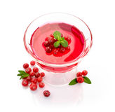Jelly with cranberry Stock Photo