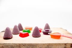 Jelly and cuberdon Stock Photos