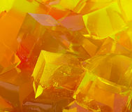 Jelly cubes in bowl Royalty Free Stock Image