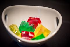 Jelly Cubes Stock Image