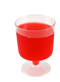 Jelly Cup. Cup of red jelly isolated in white background Royalty Free Stock Photography