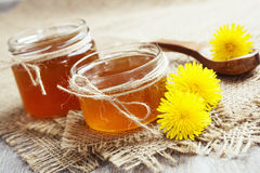 Jelly of dandelions Stock Images