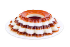 Jelly desert on plate Royalty Free Stock Photo