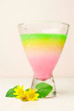 Jelly dessert in a glass Stock Images